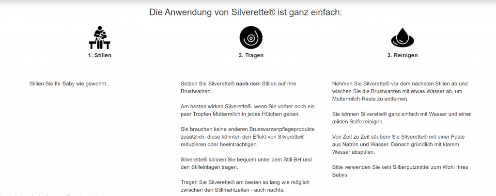 Silverette(R) Anwendung