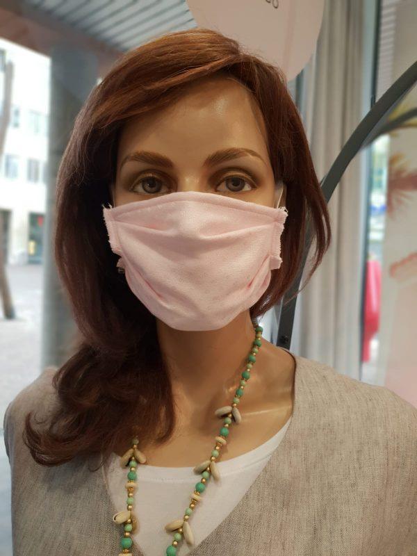 Mund und Nasenschutz Erwachsene rosa