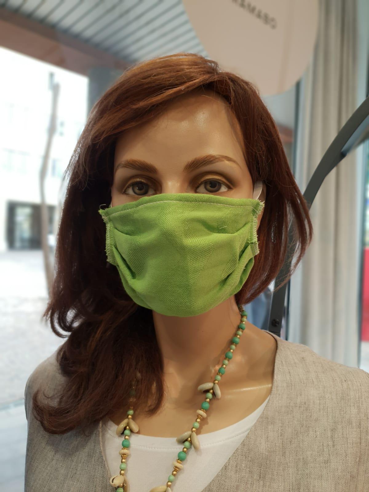 Mund und Nasenschutz Erwachsene grün