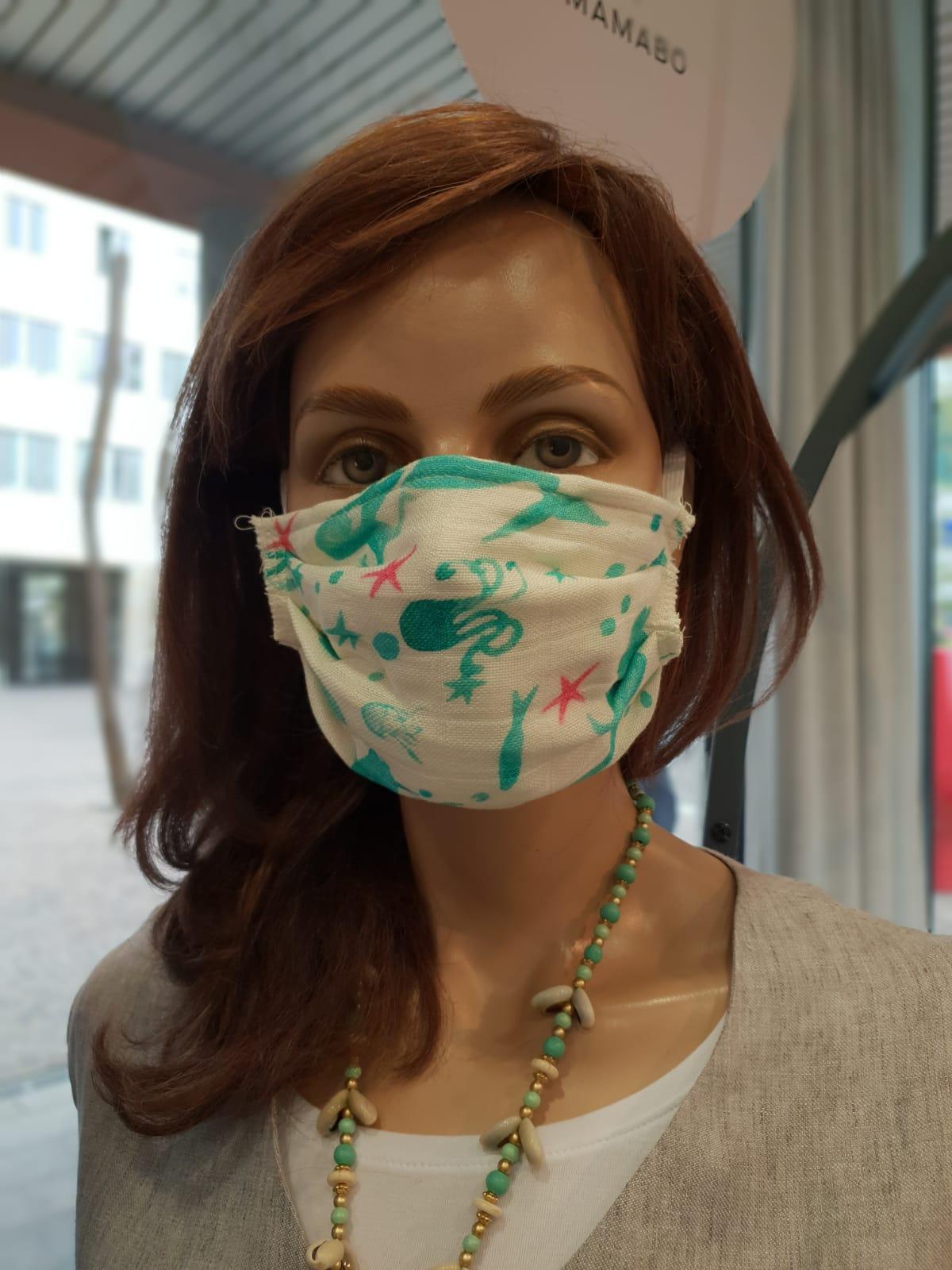 Mund und Nasenschutz Erwachsene Meer