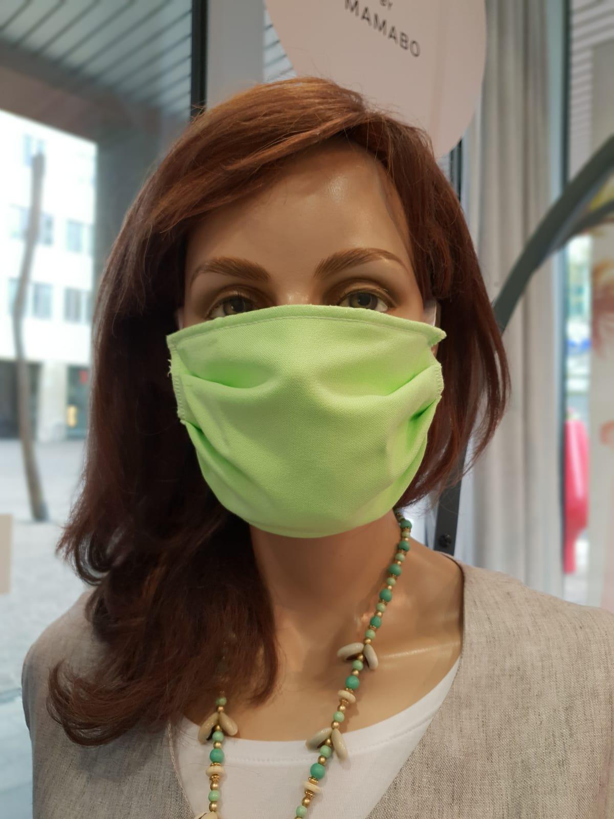 Mund- und Nasenschutz Erwachsene hellgrün