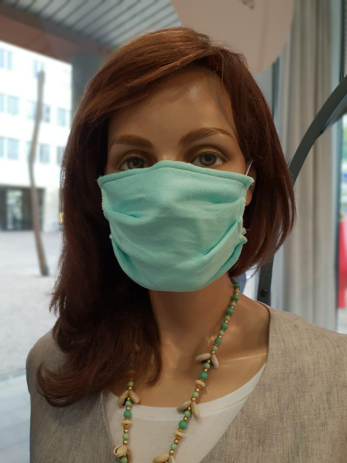 Mund- und Nasenschutz Erwachsene helltürkis