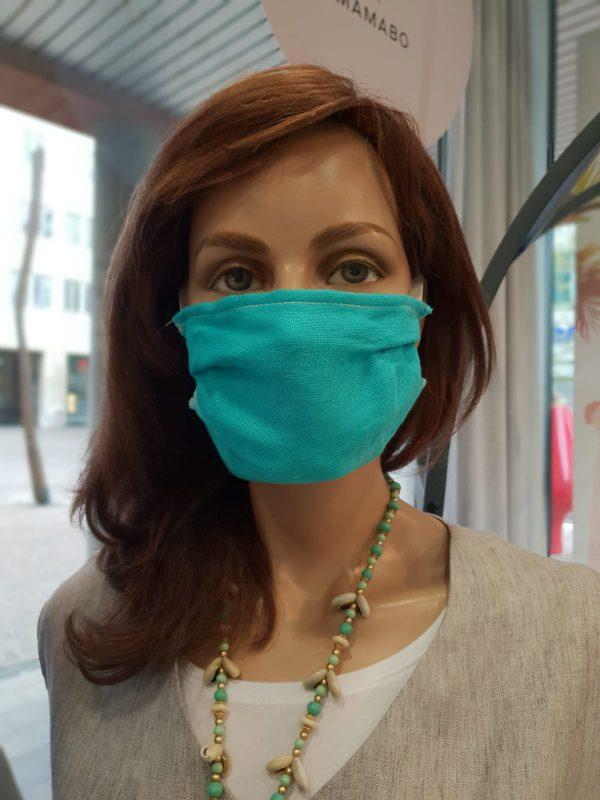 Mund- und Nasenschutz Erwachsene türkis