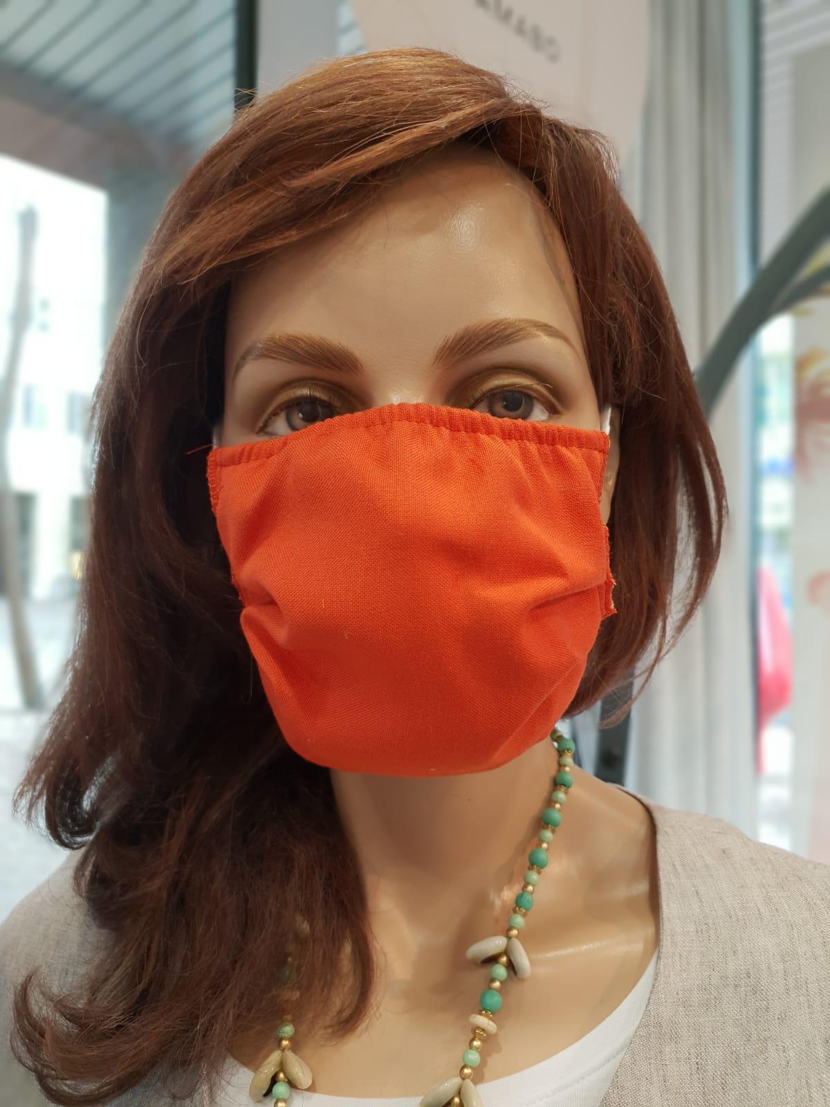 Mund- und Nasenschutz Erwachsene rostrot