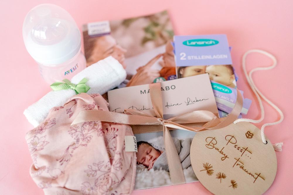 Inhalt von der Babybox by Mamabo